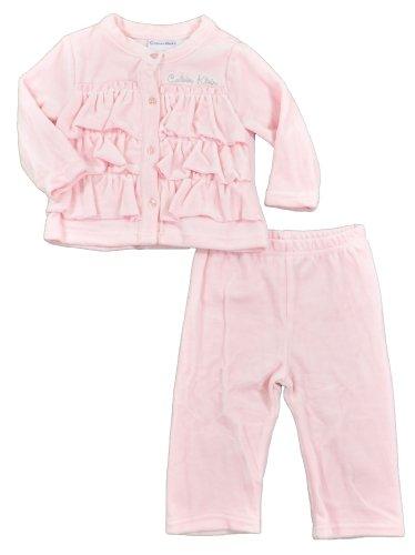 Calvin Klein Baby Girl's 2 Piece Soft Ruffle