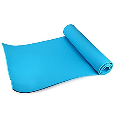 (Blue) Utility 3 Colors 6MM EVA Yoga Mat Exercise Pad Thick Non-slip Folding Gym Fitness Mat Pilates Supplies Non-skid Floor Play Mat