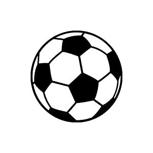 "Soccer Ball small 3"" Tall BLACK vinyl window decal sticker"""