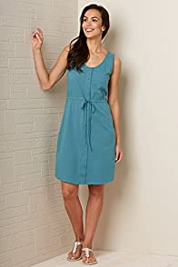 Fair Indigo Fair Trade Organic Sleeveless Shirt Dress