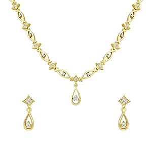 Oviya Combo of Aurous Gleam gold plated two necklace sets for Women CO1104388G
