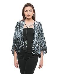 Shuffle Women's Cotton Plain Ponchos (1021524501_Multi Color_Large)