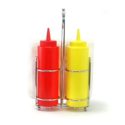 Tablecraft Products Retro Condiment Caddy Set 727875061188
