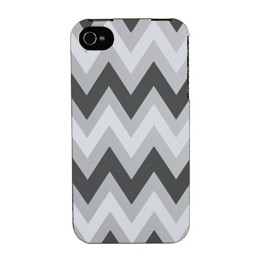 Sonix 200-1016-001 Snap! for iPhone 4/4S - Face Plate - Retail Packaging - Chevron Grey