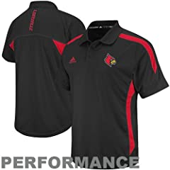 Buy Louisville Cardinals Black adidas 2012 Football Sideline Polo by adidas