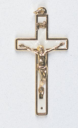 Small Crucifix - Latin Cross - Pendant - 4in. Height - IMPORTED FROM ITALY