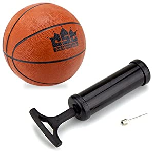 Buy Crown Sporting Goods Mini Basketball with Needle and Inflation Pump, 5-Inch by Crown Sporting Goods