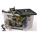 Game / Play True Heroes Ultimate Military Playset 100 Piece Set With Storage Container, Military, True, Heroes...
