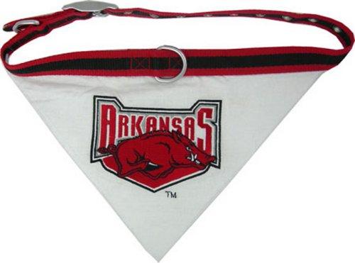 Ncaa Dog Collar Bandana, Medium, University Of Arkansas Razorbacks