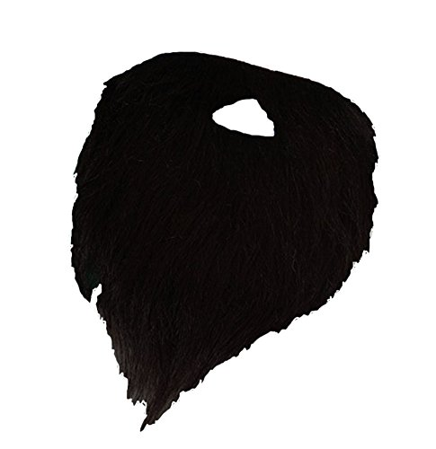 Full Black Beard & Mustache Costume Disguise Set