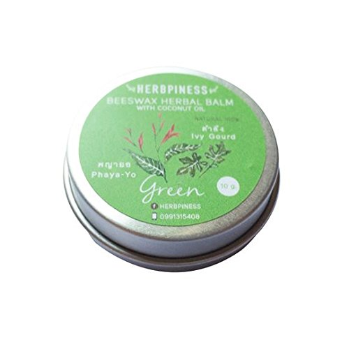 beeswax-herbal-balm-size-s-10-grams-made-from-green-ivy-gourd-phaya-yo-with-coconut-oil