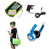 Ultimate Addons UK Boys Starter Bag Bundle for LeapFrog LeapPad 2, including bag, mains adapter, headphones and screen protectors