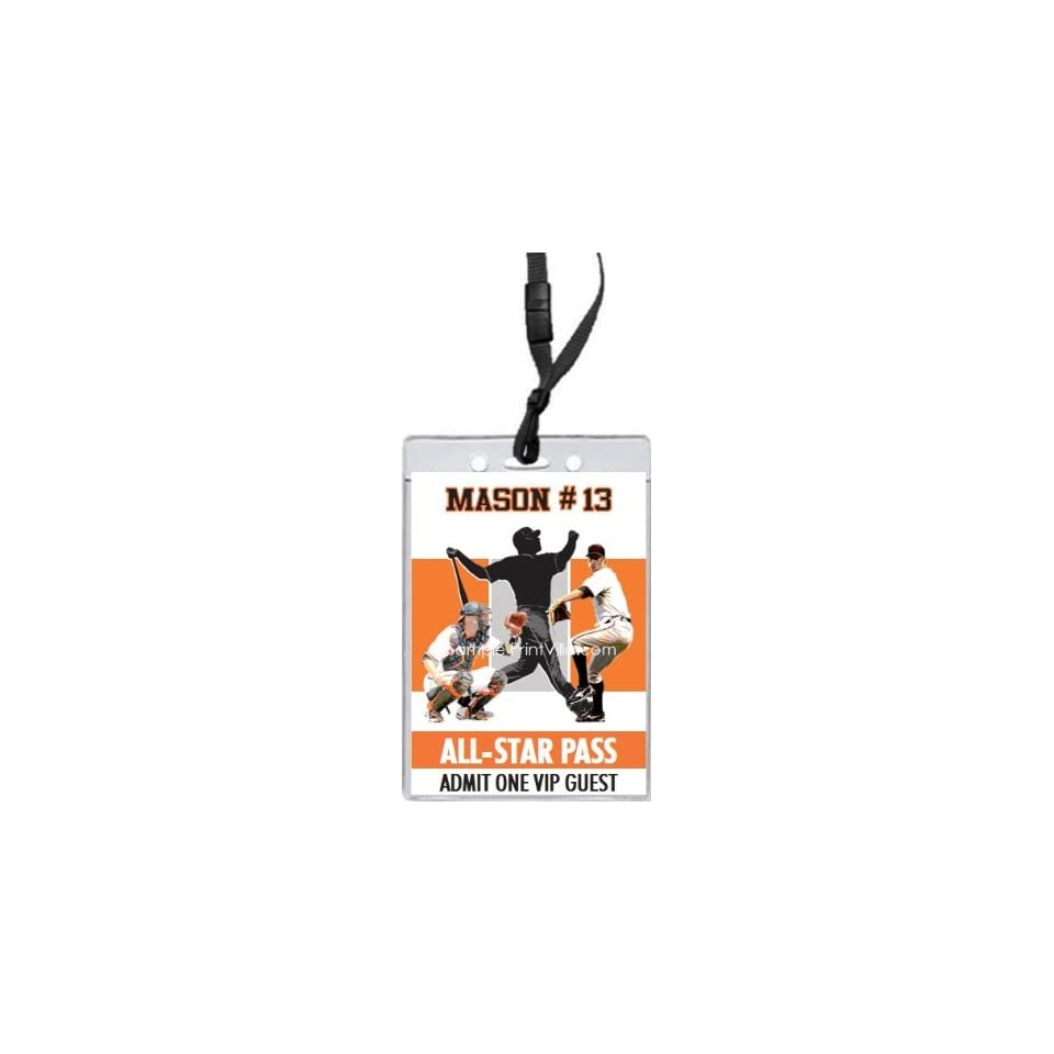 San Francisco Giants Colored All Star Pass Invitation