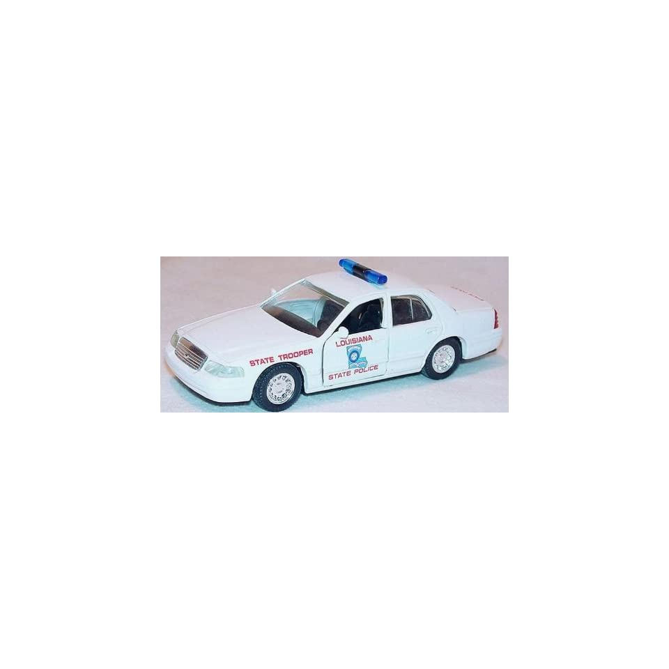 LOUISIANA STATE POLICE Road Champs 1998 Ford Crown Victoria Police Series Die Cast Car 143 Scale
