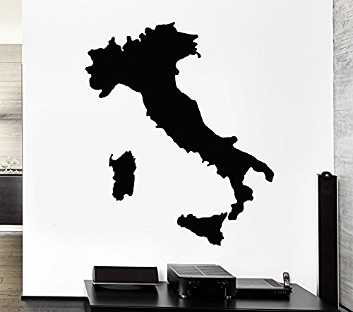 XX Plus Fashion Wall Decal Map Of Italy Italian Boot Decor For Living Room Sticker For You (Italian Pepper Cookies compare prices)