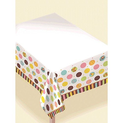 Amscan Adorable Fisher-Price Plastic Table Cover Baby Shower Party Supply, 54 x 102