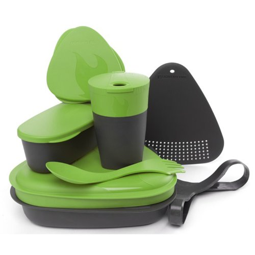 Light My Fire 8-Piece BPA-Free Meal Kit 2.0 with Plate, Bowl, Cup, Cutting Board, Spork and More (Green)