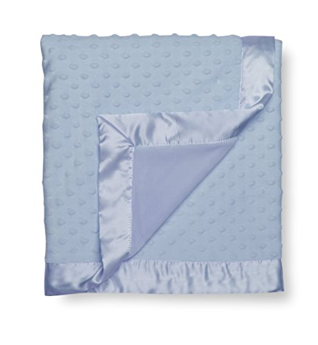 GUND Babygund Reversible Multi-texture Dot Blanket, Peek A Blue, 30'' By 40''