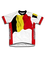 Belgium Flag Short Sleeve Cycling Jersey for Women