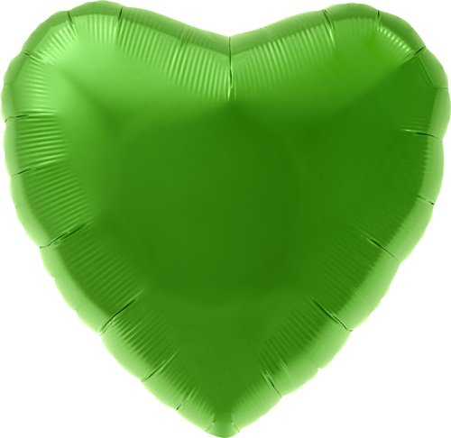 "18"" Foil Balloon Lime Green Heart - 1"