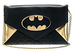Batgirl Envelope Clutch Batman DC Comics Wallet w/ Chain