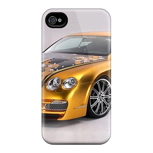 Hot Gold Bentley First Grade Tpu Phone Case For Iphone 4/4S Case Cover front-579468