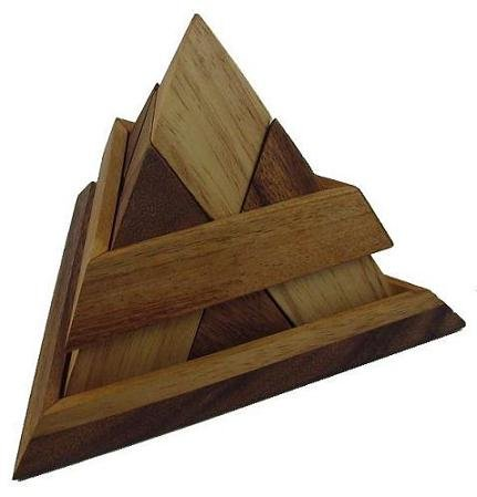 Cheap Winshare and Games Luxor Pyramid Wooden Puzzle Brain Teaser (B005K2WOTS)