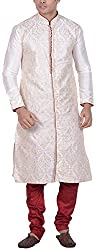 Kisah Men's Cotton Silk Kurta (KA-S-040K-38_Off White_38)