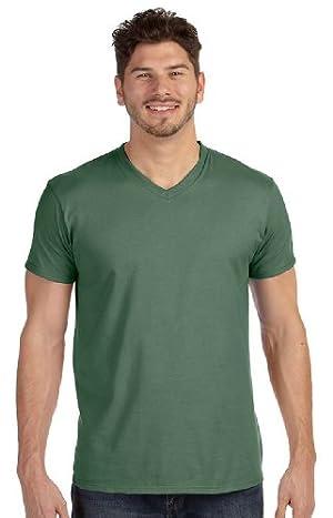 Hanes 4.5 oz., 100% Ringspun Cotton nano-T V-Neck T-Shirt, 2XL, VINTAGE GREEN