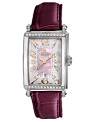 Gevril Women's 7248RT.14F Pink Mother-of-Pearl Genuine Alligator Strap Watch