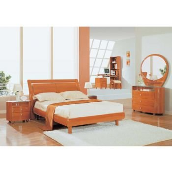 Cheap Emily 4 Piece Kids Bedroom Set (1-Dresser, 1-Mirror, 1-Night stand, 1-Full Bed) (B004UY8BYO)