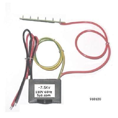 Negative ion generator, 120VAC, output 7.5Kv, HVAC Module 5 SS pin