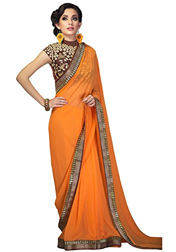 Sahiba Women's Georgette Indian Traditional Saree(MD010)