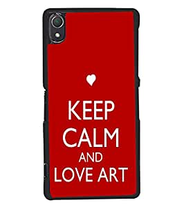 Fuson Meaningful Text Back Case Cover for SONY XPERIA Z2 - D3999