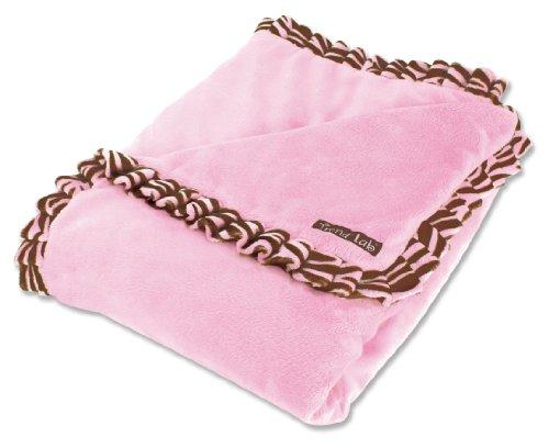 Pink Zebra Baby Blanket front-170972