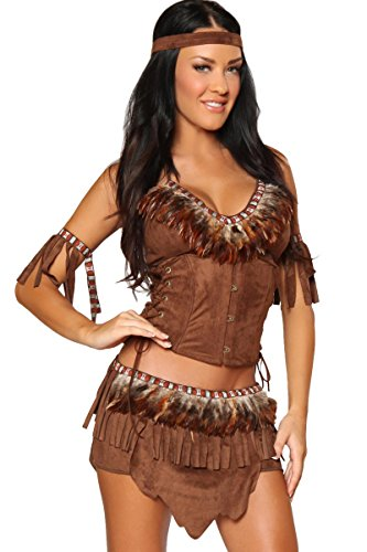 3WISHES 'Light Feather Costume' Sexy Indian Costumes for Women
