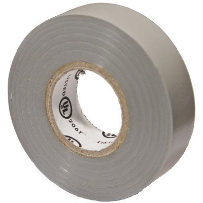 "Morris Products 60080 Polyvinylchloride General Purpose Electrical Tape, 8 Kv Dielectric Strength, 60' Length X 3/4"" Width, Gray"