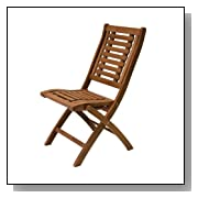Outdoor Eucalyptus Folding Side Chair