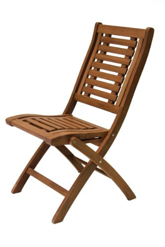 Outdoor Interiors 10040 Eucalyptus Folding Side Chair