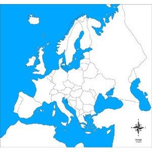 Cartina Geografica Europa Politica Muta.Carta Muta Europa Politica