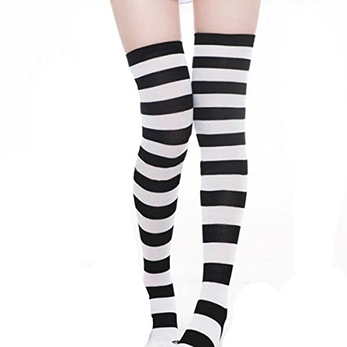 ZANZEA Sexy Lady Over The Knee Thigh High Long Striped Stocking socks