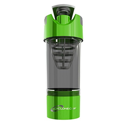 Cyclone Cup 20oz Blender Mixer Bottle Protein Shaker with Compartment-Green color (Gamma Shaker Cup compare prices)