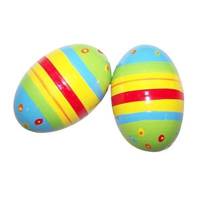 Diddy-Doo-Dahs / Stripe & Dot Wooden Shaker Eggs