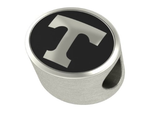 Tennessee Vols Collegiate Bead Fits Most Pandora Style Bracelets Including Pandora, Chamilia, Biagi, Zable, Troll and More. High Quality Bead in Stock for Immediate Shipping