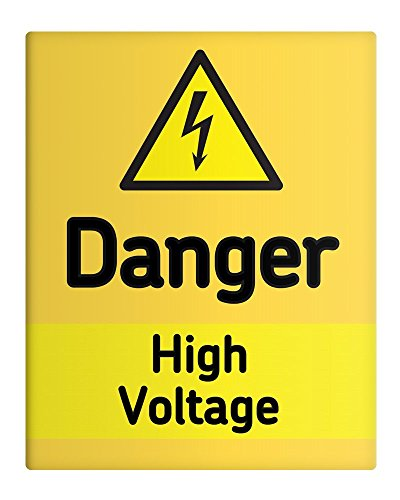 Danger High Voltage Metal Sign-20,32 25,40 cm x 10 x (8 Safety Factory locali nel luogo di lavoro, 90