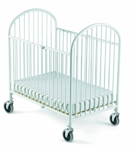 Foundations Pinnacle Folding Full Size Steel Crib, White - 1