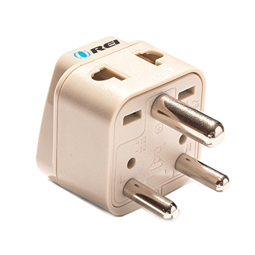 OREI Grounded Universal 2 in 1 Plug Adapter Type D for India, Africa & more - High Quality - CE Certified - RoHS Compliant WP-D-GN (Adaptor Plugs For India compare prices)