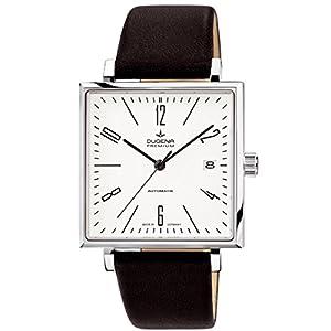 Dugena 7000323 - Reloj de pulsera hombre, piel, color negro
