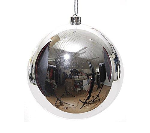 Christbaumkugel-Kuststoff-PVC-XXL-silber-20cm-Weihnachtskugeln-Baumschmuck-Dekokugeln-gro-Baumkugeln