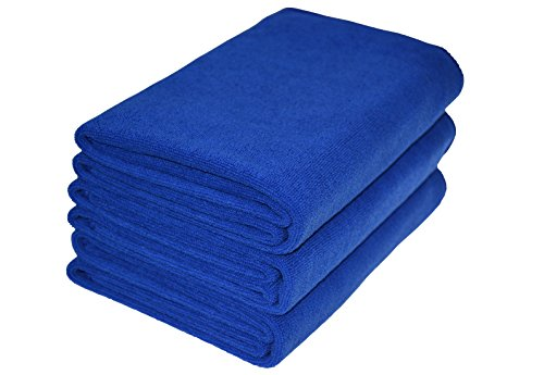 Hope Shine Microfiber Sports Towel Fast Drying Gym Towels 3-Pack 16inch X 32inch (Dark Blue 3-Pack, 16inch X 32inch)